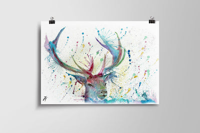 Proud (Stag) Art Poster Print