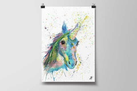Patty (Unicorn) Art Poster Print