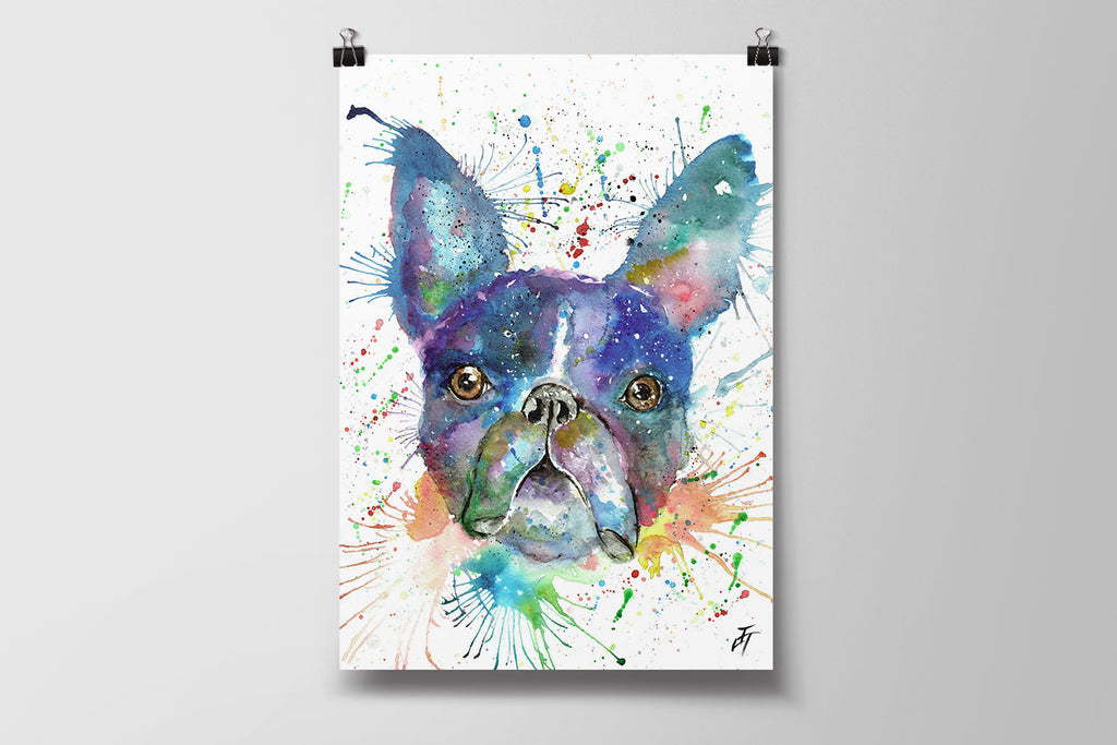 Bruno (Boston Terrier) Art Poster Print