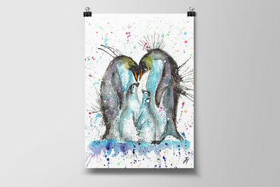"""Home"" Penguins Art Poster Print"