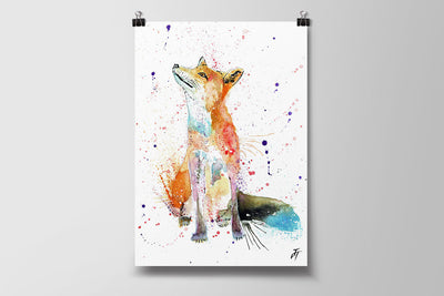 Wishes (Fox) Art Poster Print