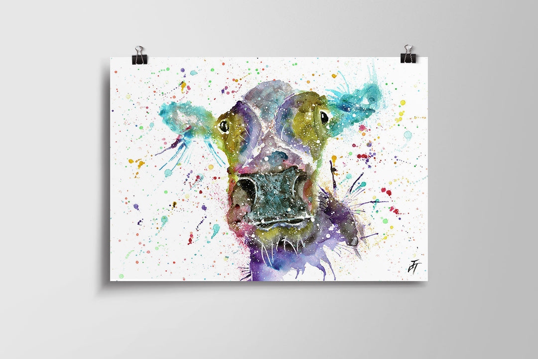 Daisy (Cow) Art Poster Print