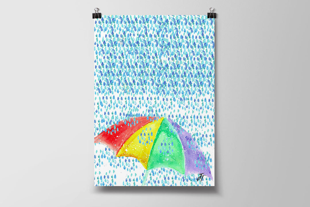 British Summer Art Poster Print
