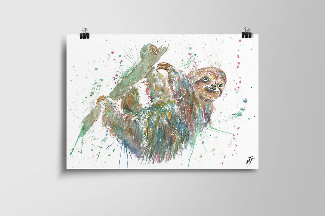 Hey Mr Sloth Art Poster Print