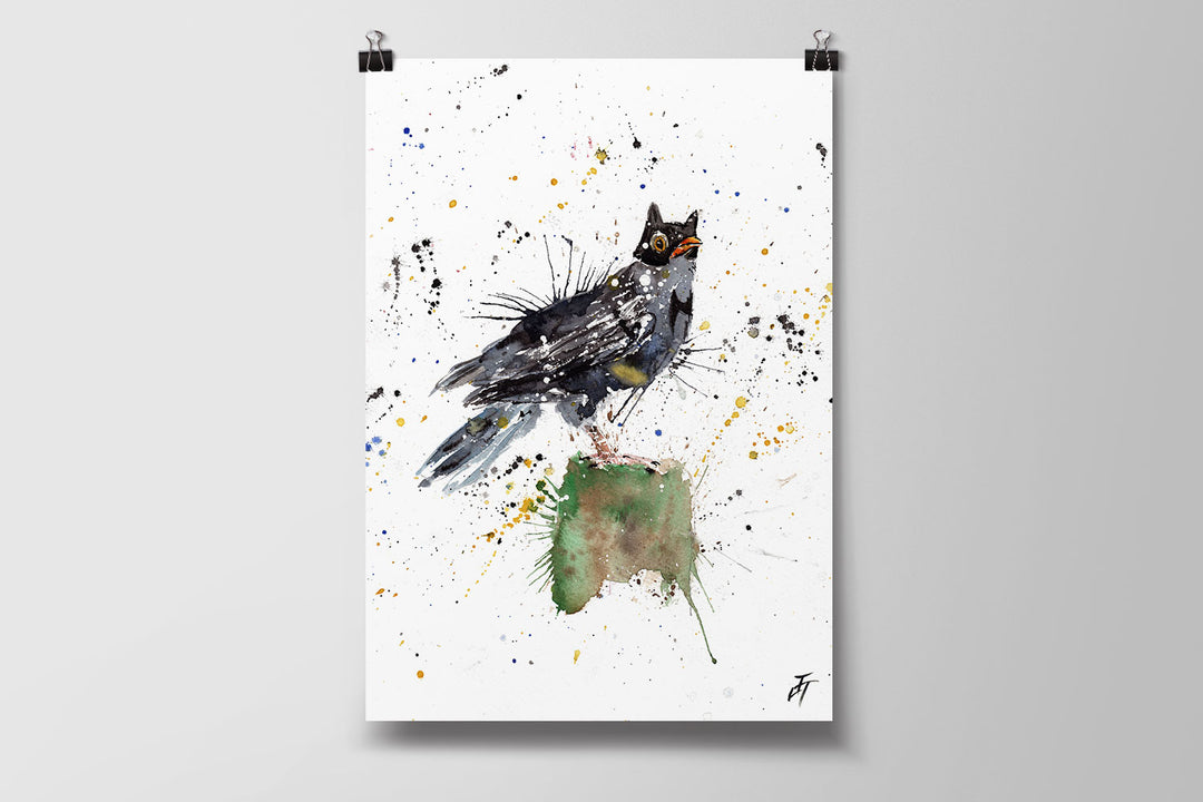 Blackbird Batman Art Poster Print