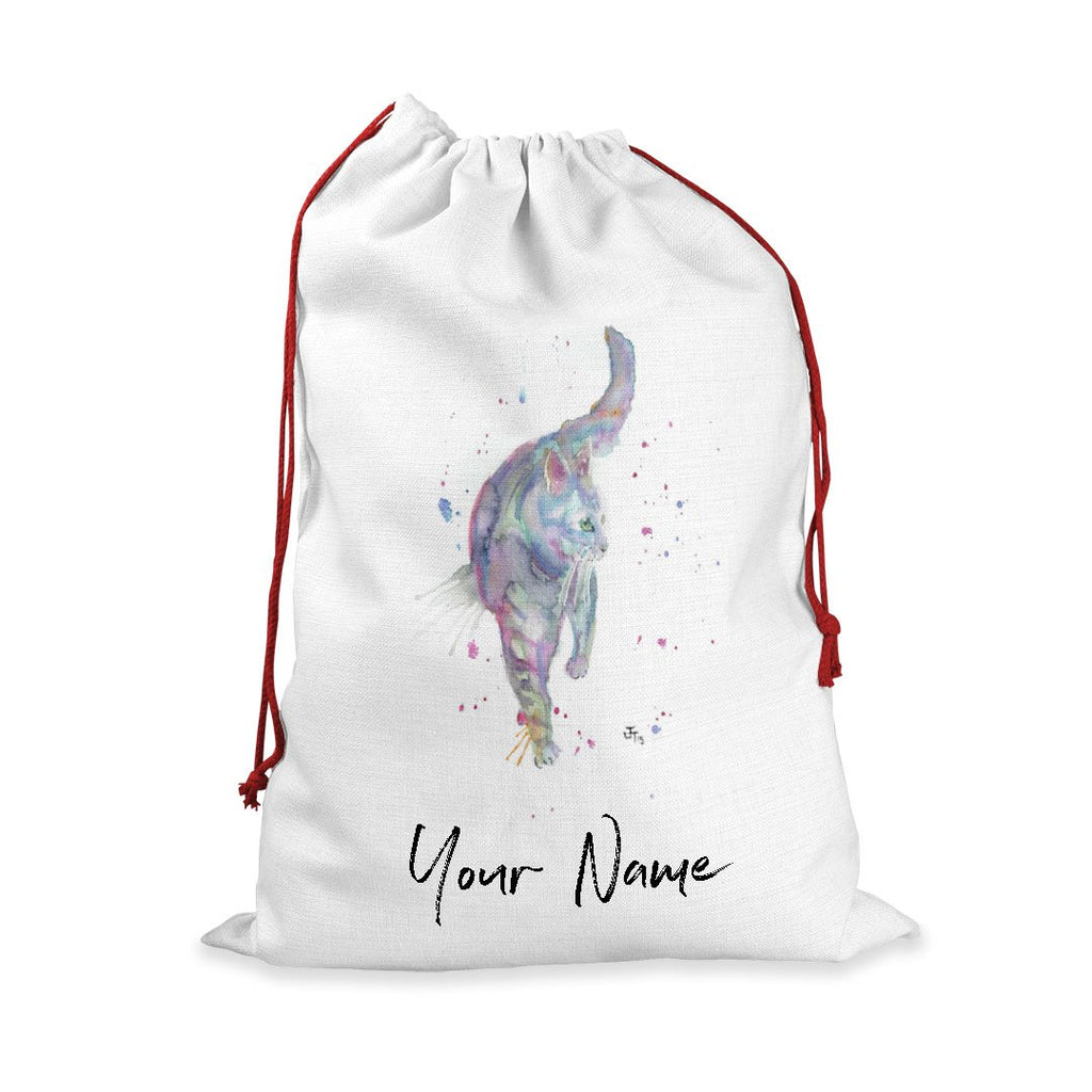 Rainbow Cat Personalised Santa Sack