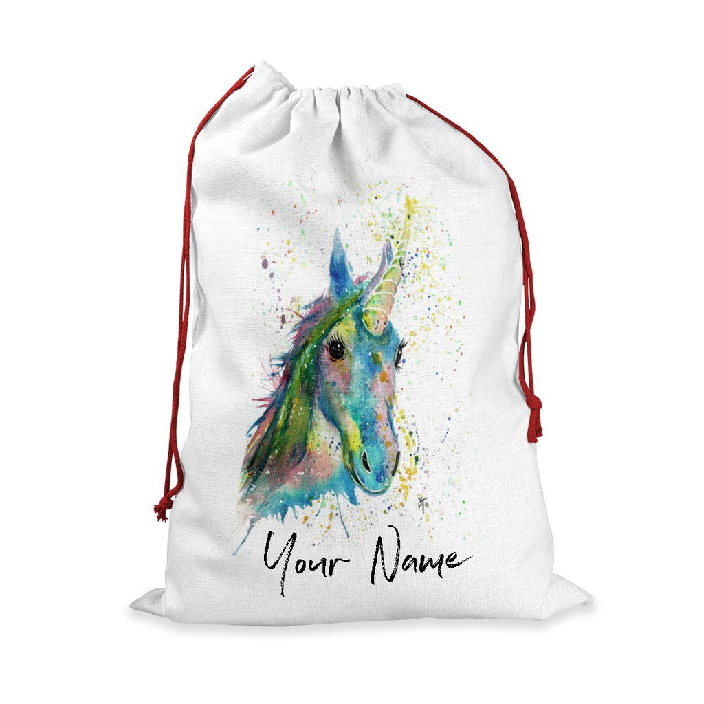 """Patty"" Unicorn Personalised Santa Sack"