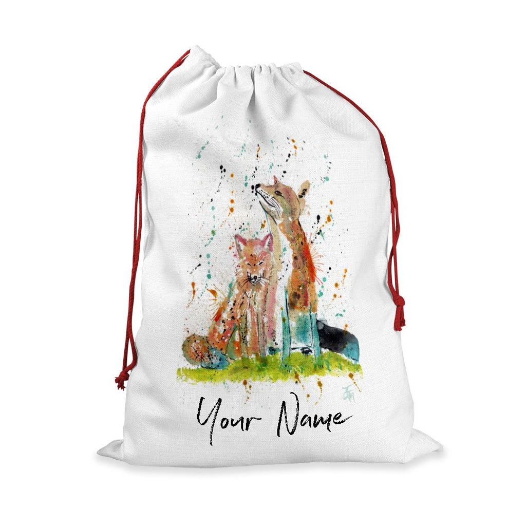 """Always Us"" Foxes Personalised Santa Sack"