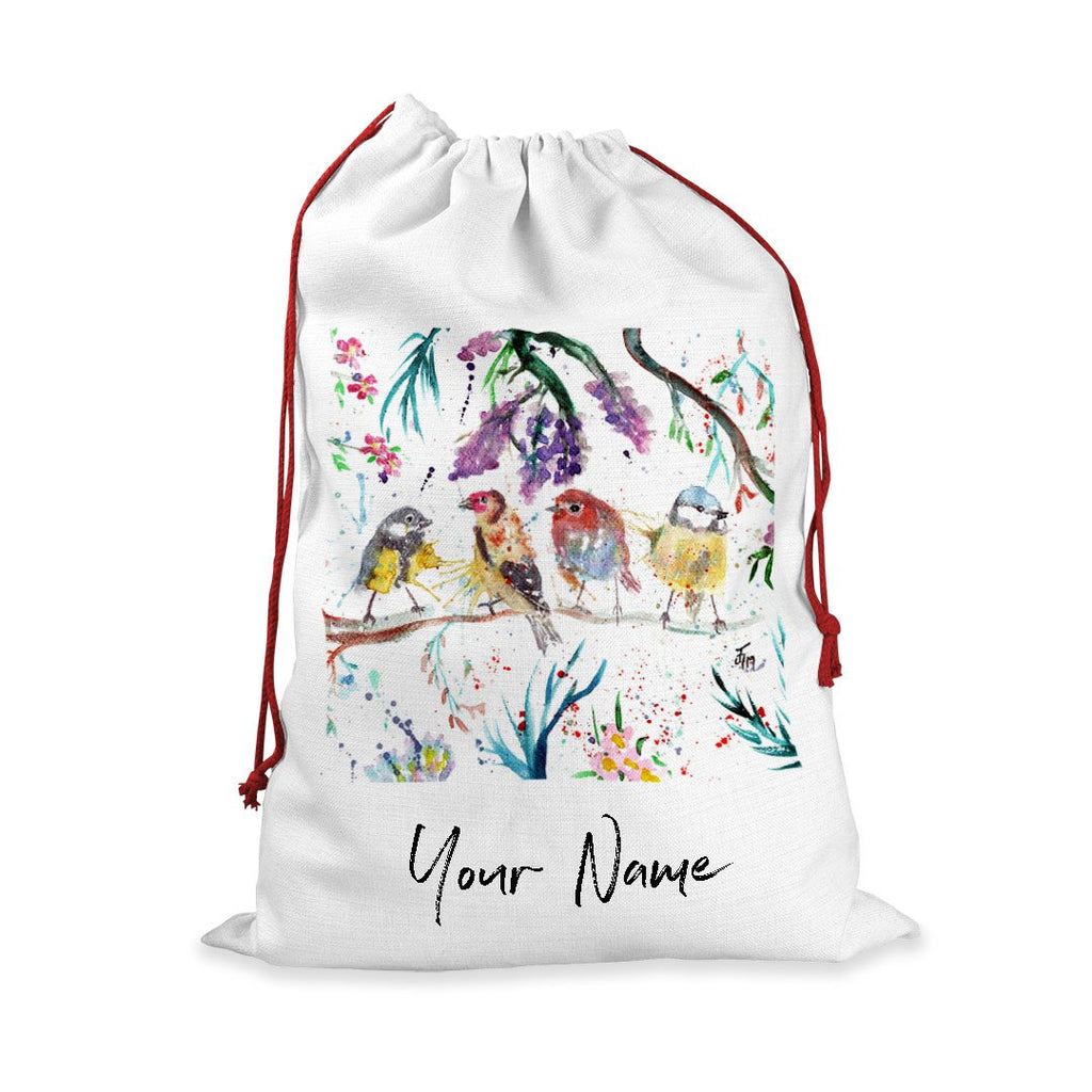"""Tree Friends"" Birds Personalised Santa Sack"