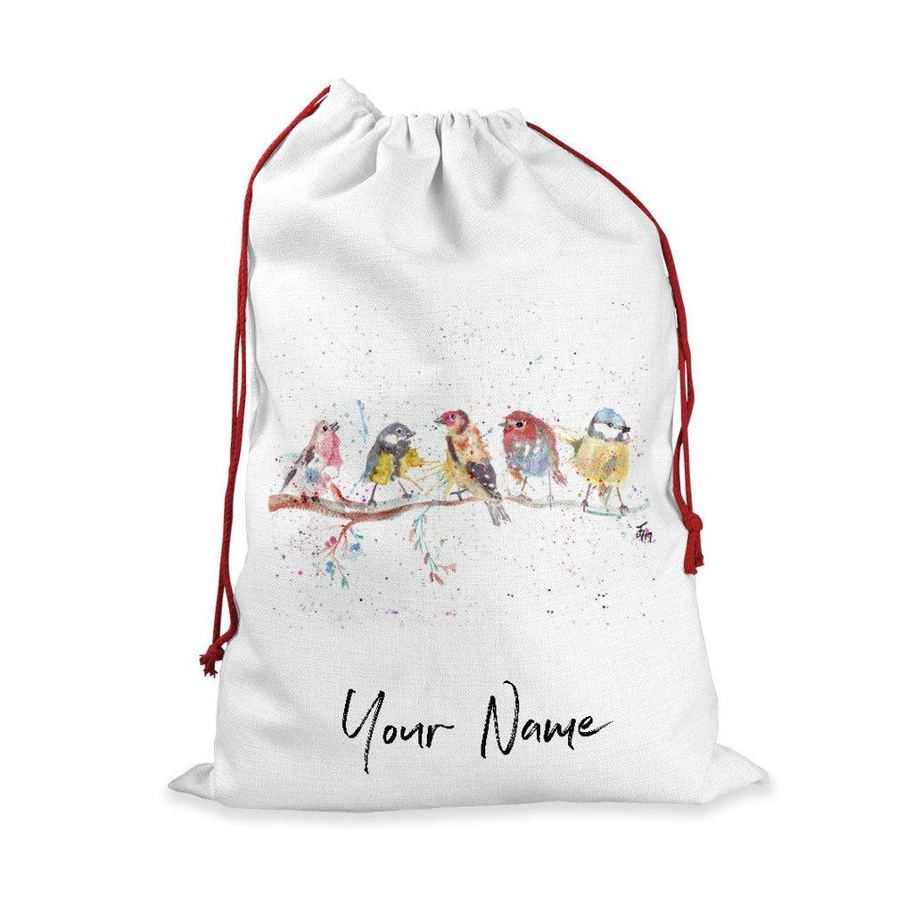 """Tree Friends"" Birds 2 Personalised Santa Sack"