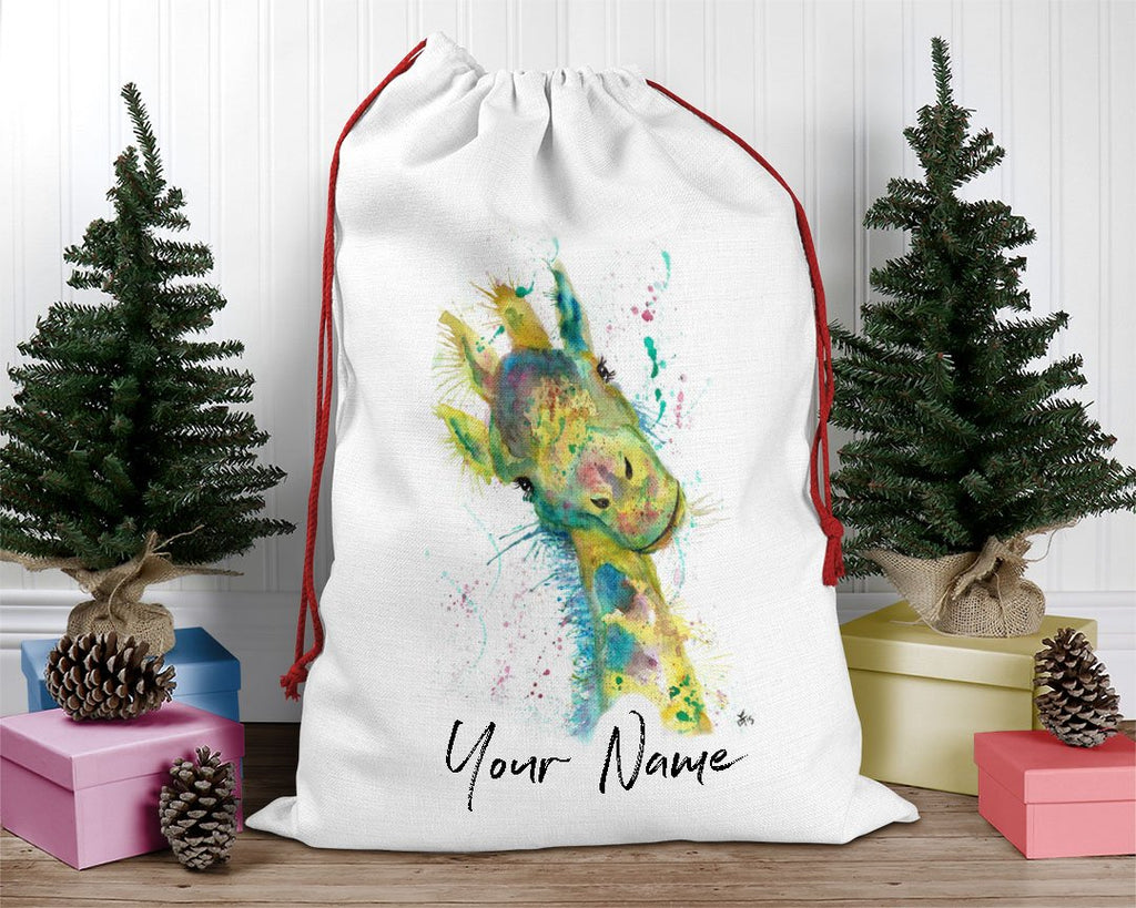 """Hattie"" Giraffe Personalised Santa Sack"