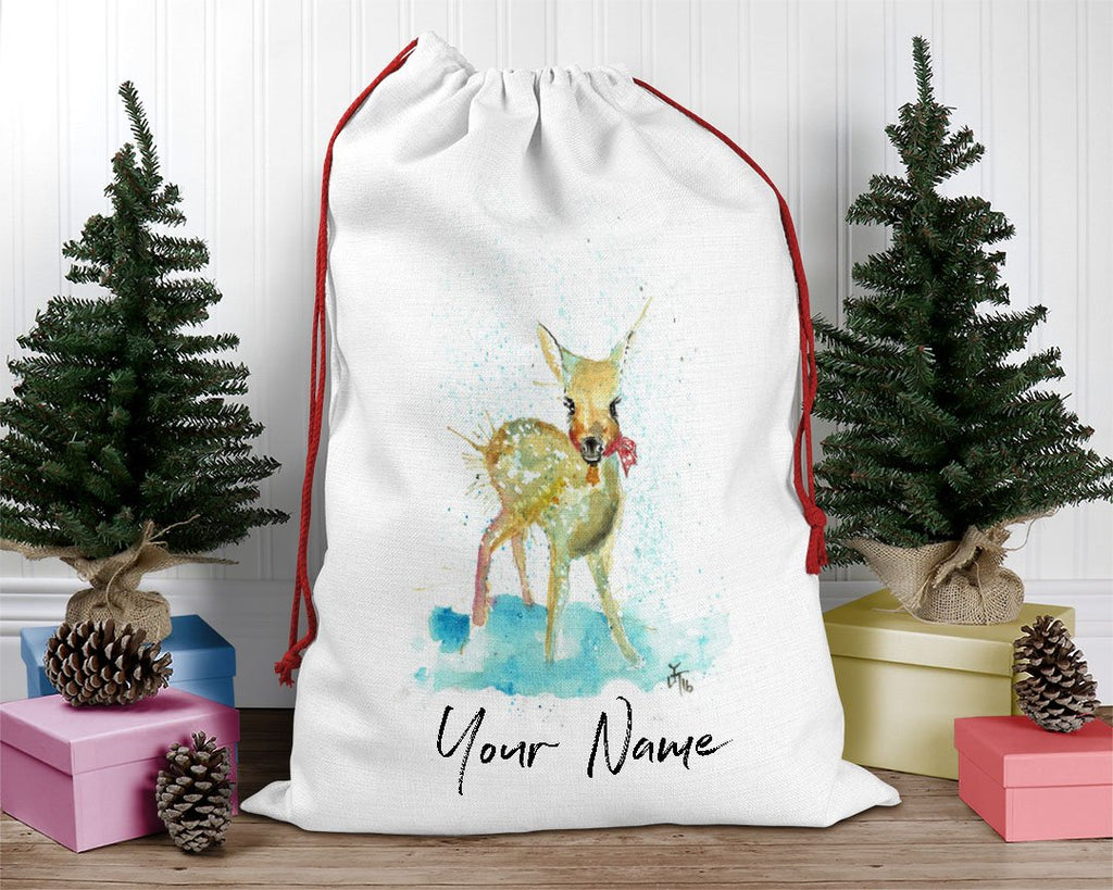 Oh Deer Personalised Santa Sack