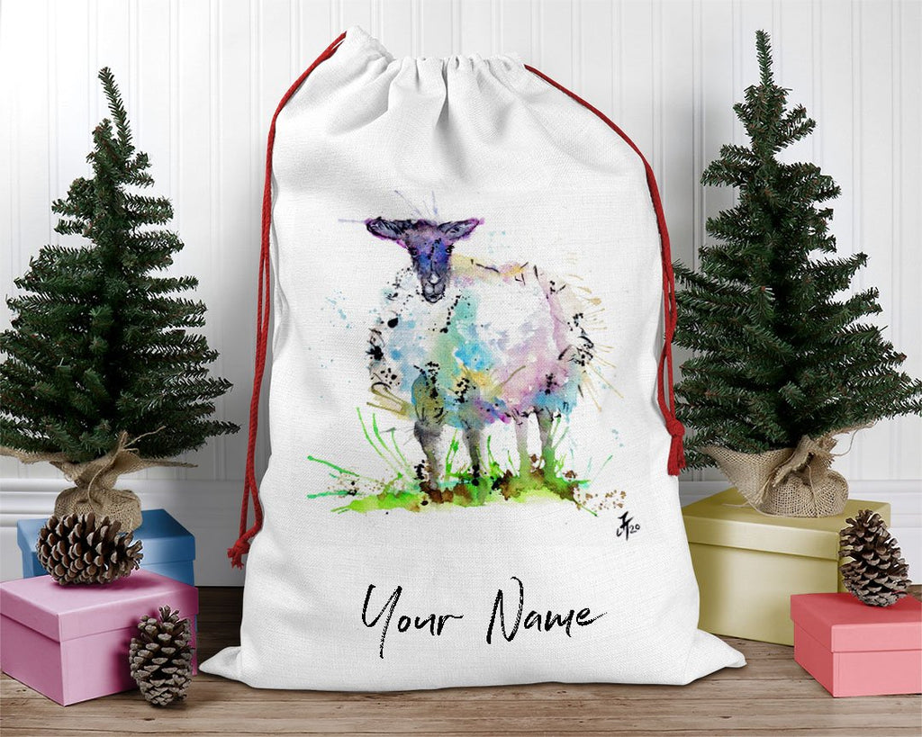 """I Adore Ewe"" Sheep Personalised Santa Sack"