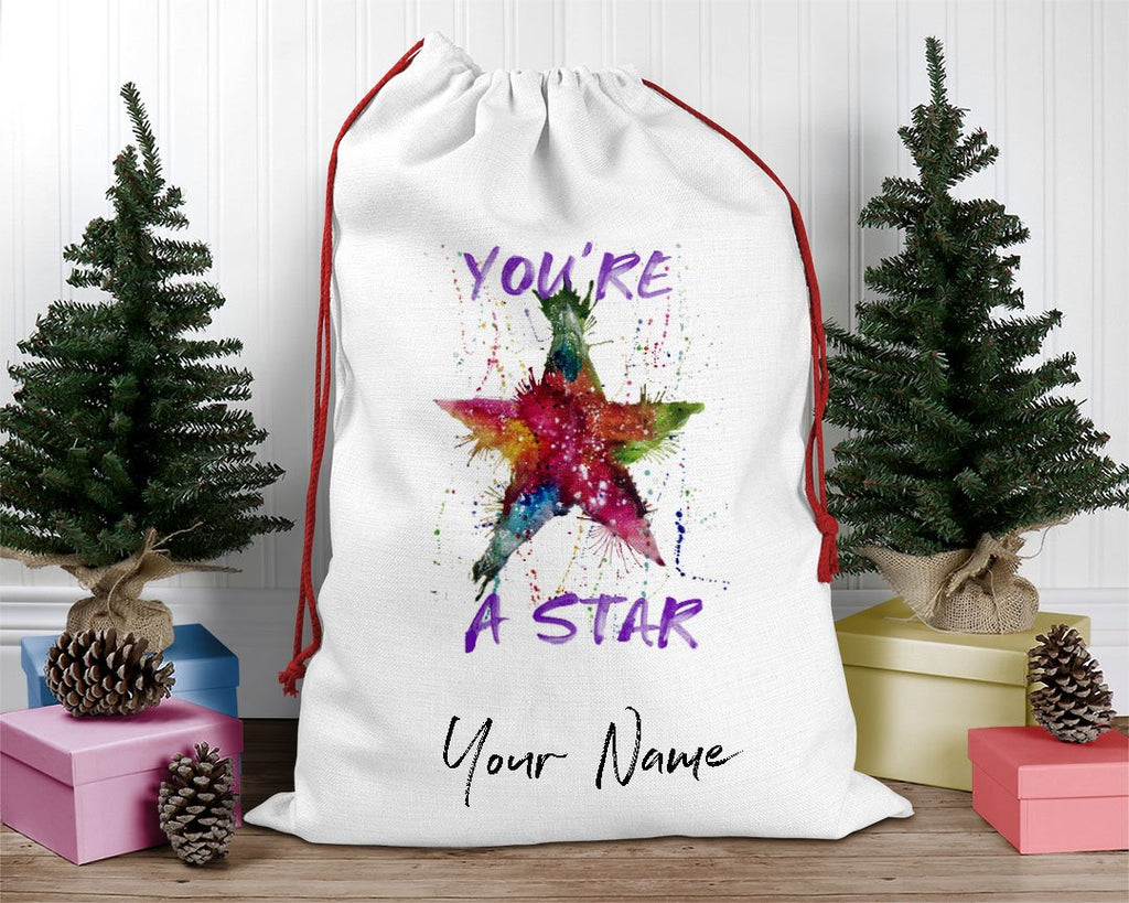 You're A Star! Personalised Santa Sack