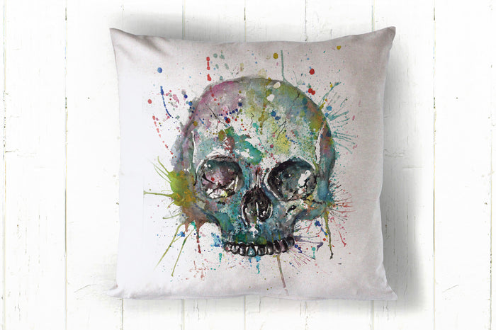 Skull blue 40 x 40cm cushion cover