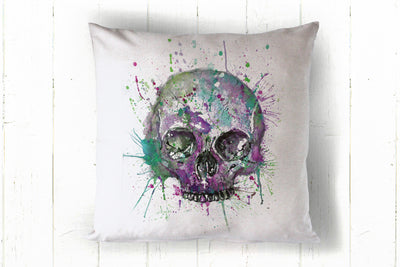 Skull purple 40 x 40cm cushion cover