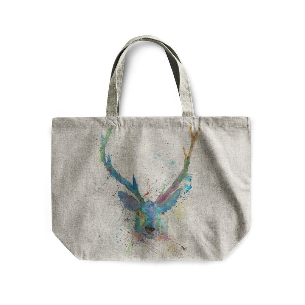 """Bruce"" Stag Linen Tote Bag"