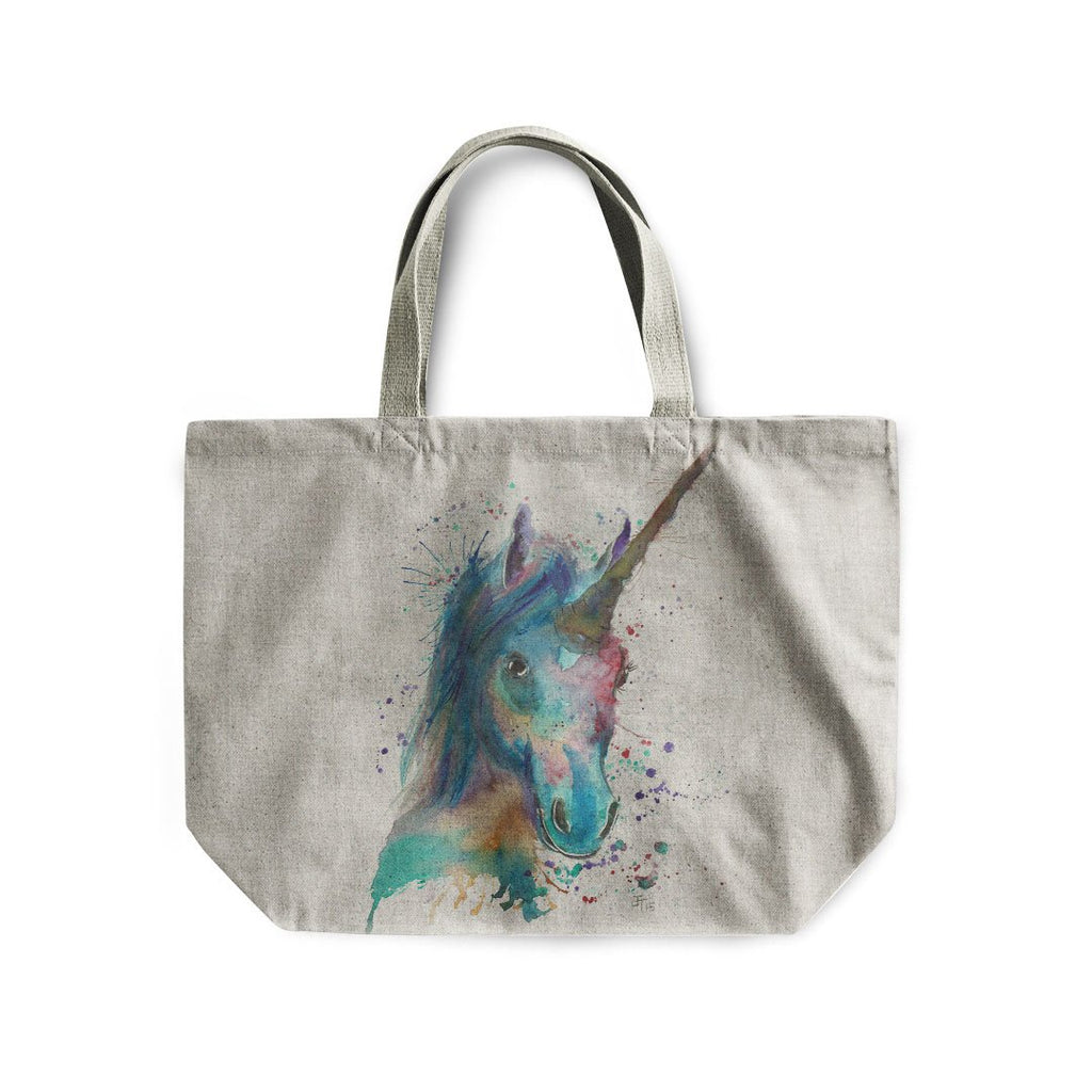 """Marge"" Unicorn Linen Tote Bag"