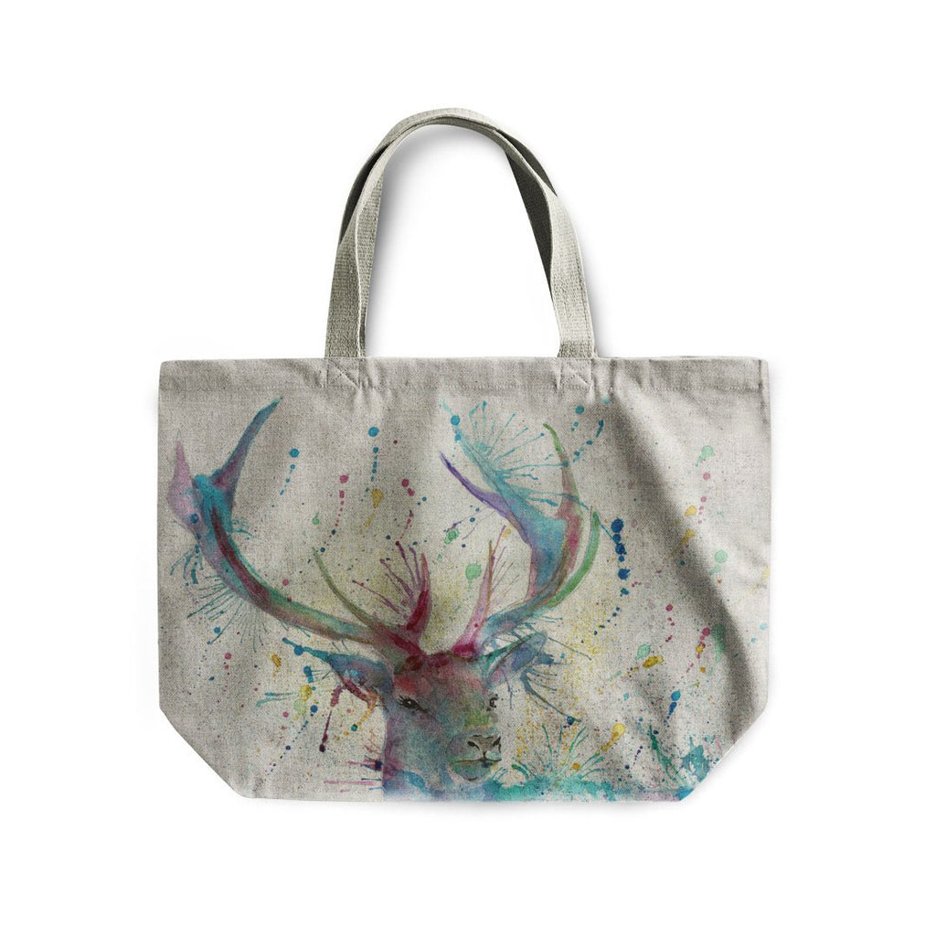 """Proud"" Stag Linen Tote Bag"