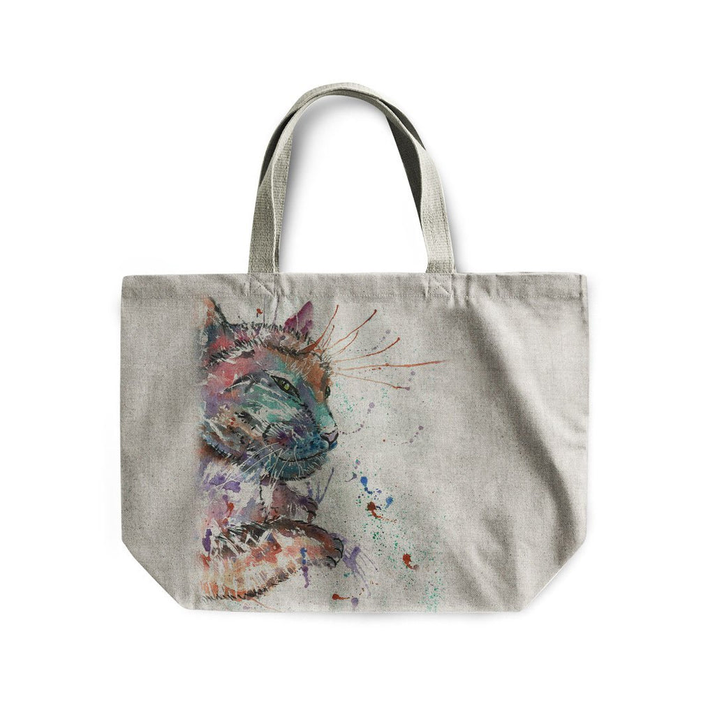 """Dave"" Cat Linen Tote Bag"