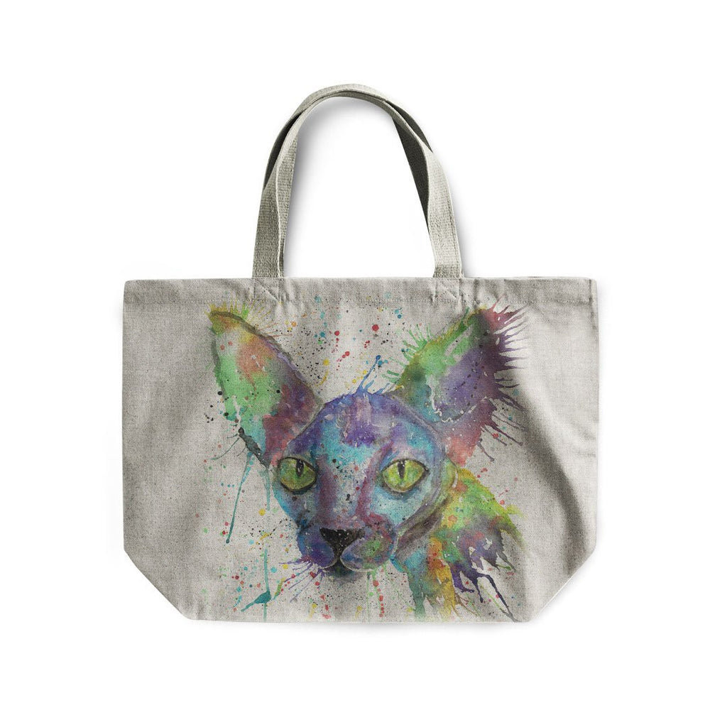 """Brian"" Sphynx Linen Tote Bag"