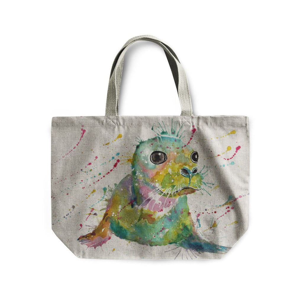 """Toby"" Seal Linen Tote Bag"