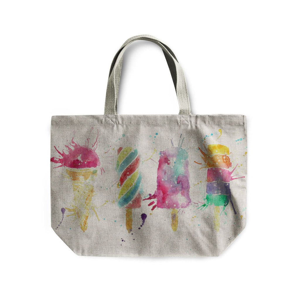 Ice Lollies Linen Tote Bag