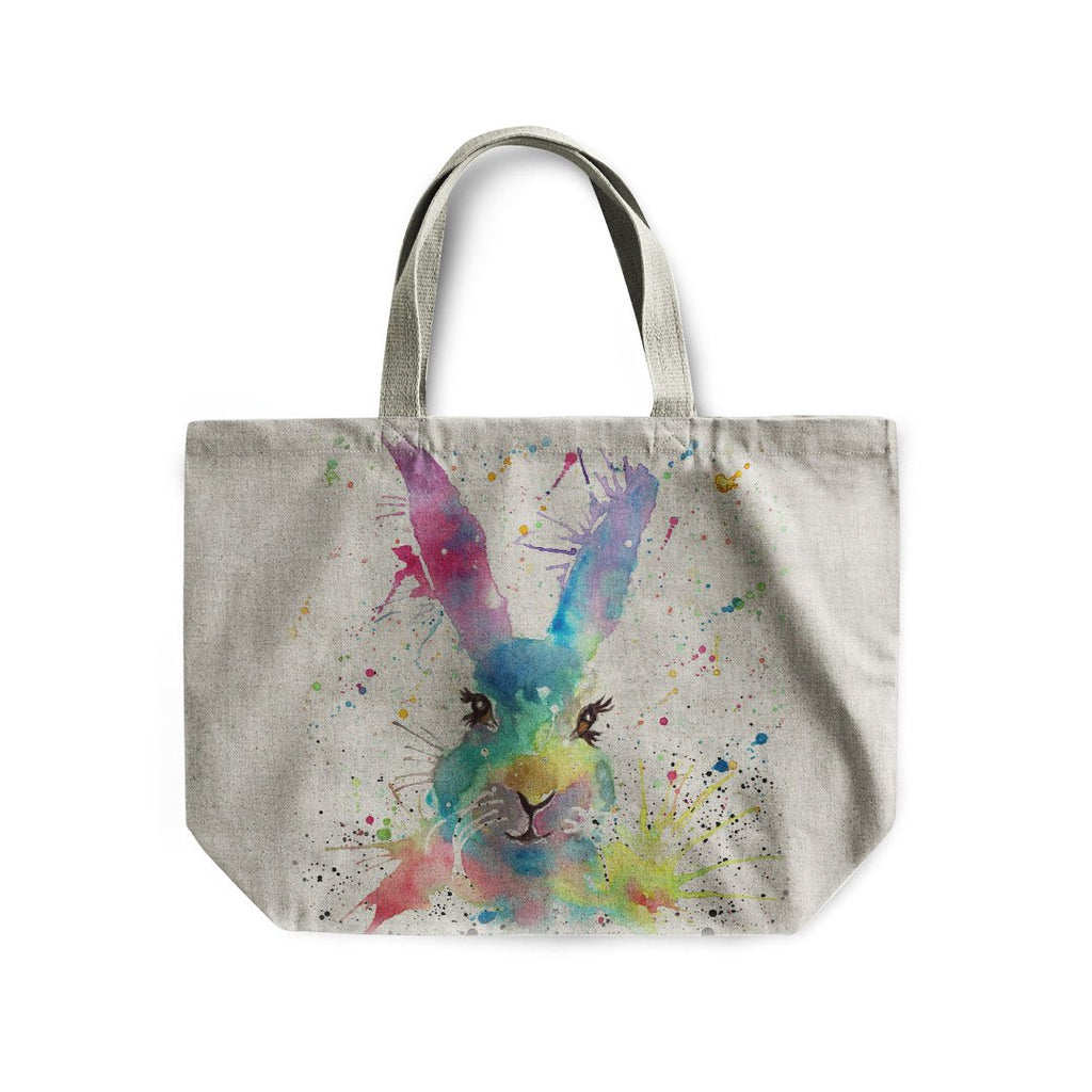 Summer Hare Linen Tote Bag