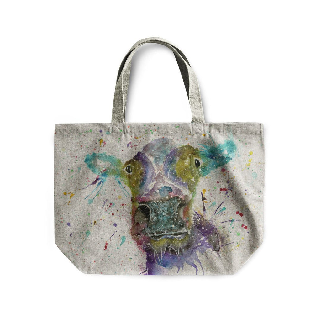 """Daisy"" Cow Linen Tote Bag"