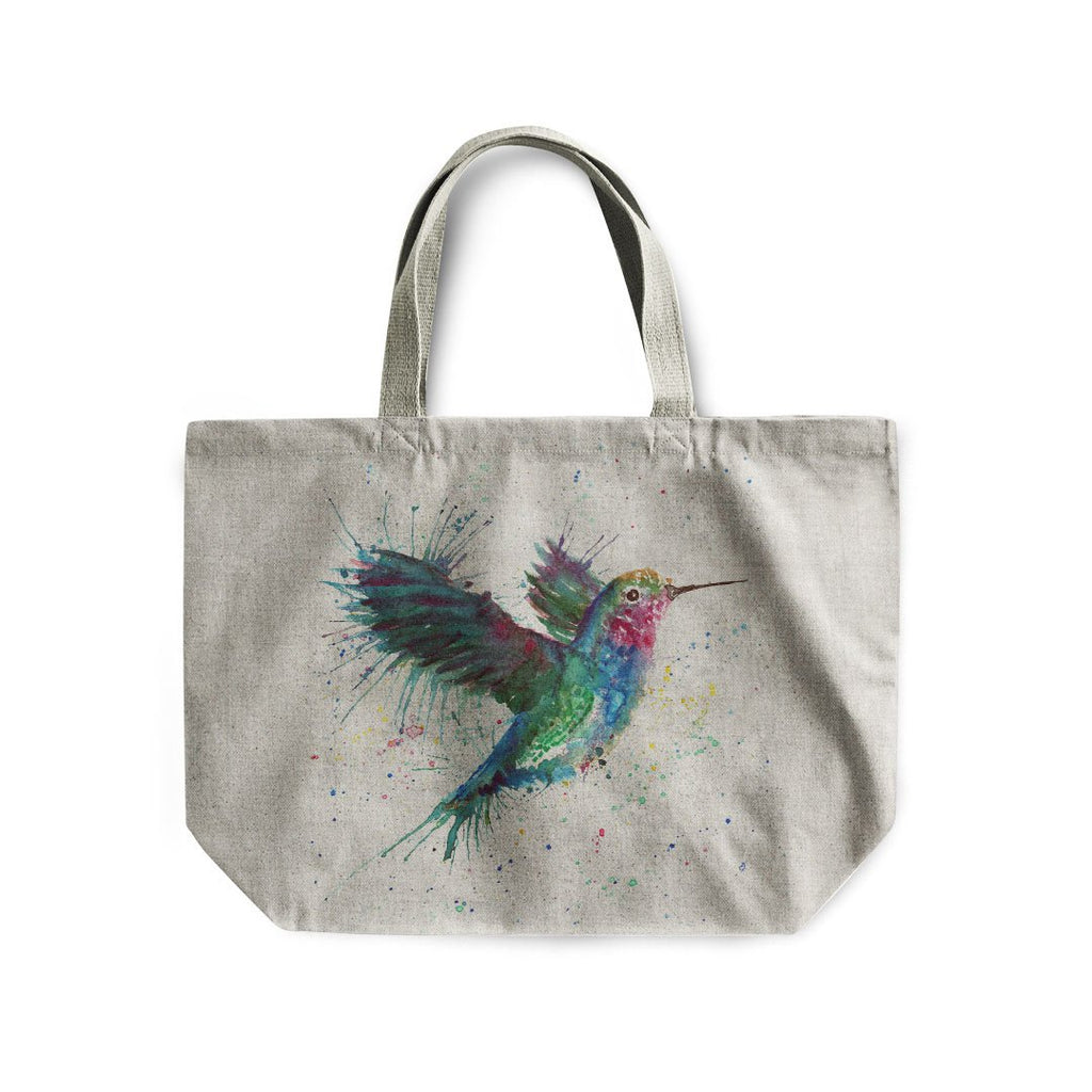 """Sue"" Humming Bird Linen Tote Bag"