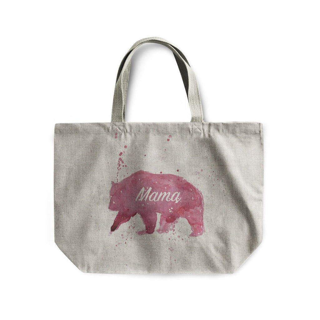 Mama Bear Linen Tote Bag