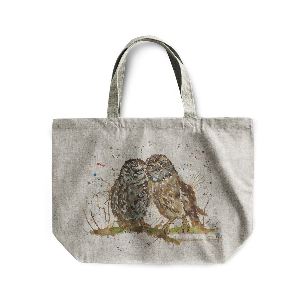 My Favourite Owl Linen Tote Bag