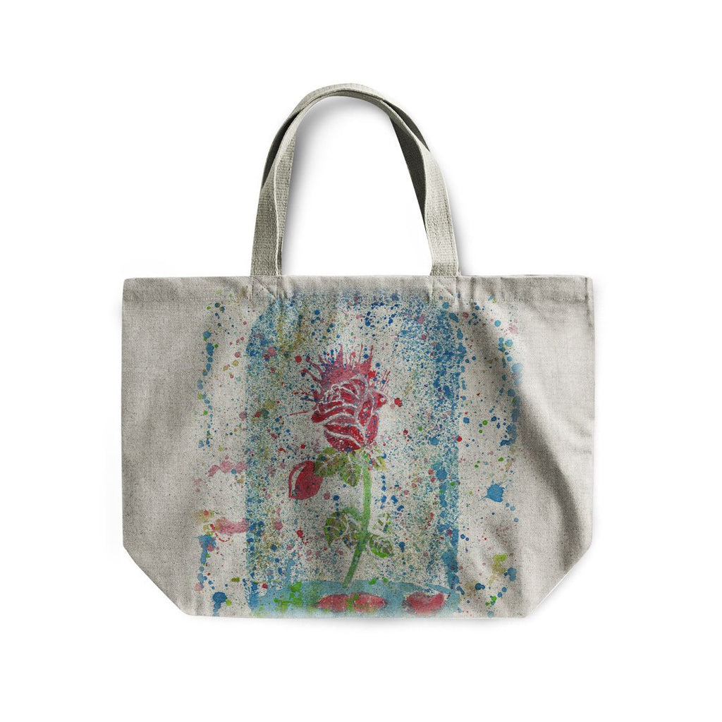 Magic Rose Linen Tote Bag