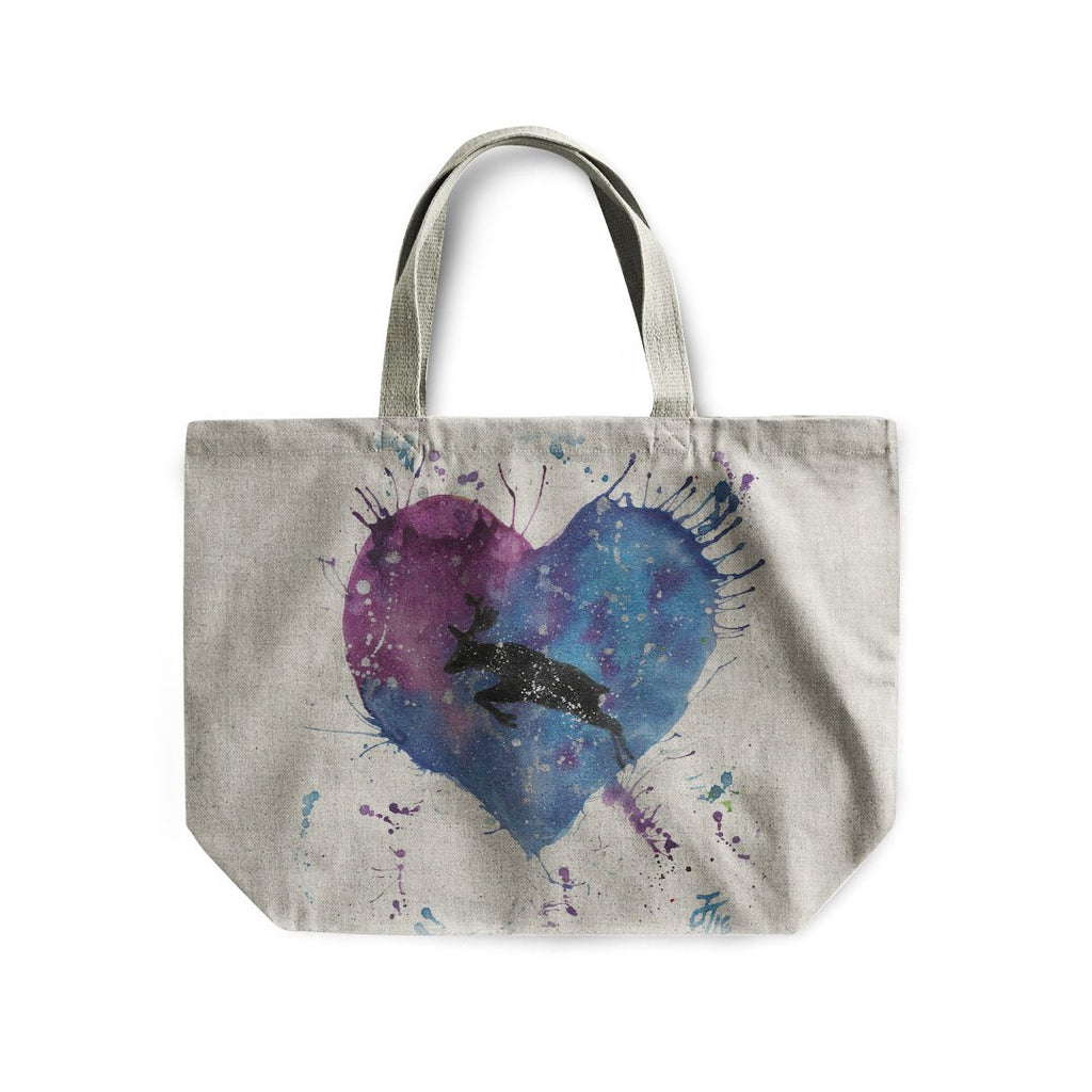 Moon Moose Linen Tote Bag