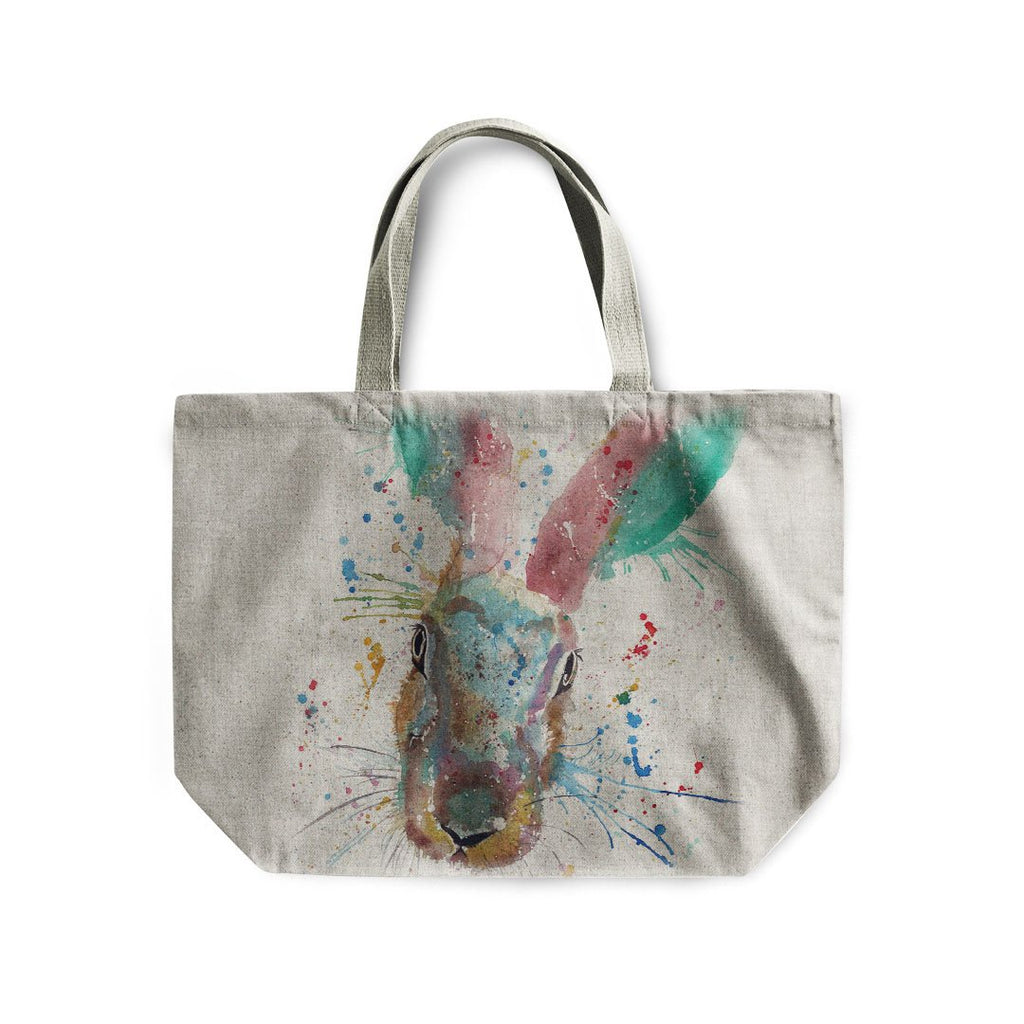 Riddle Hare Linen Tote Bag