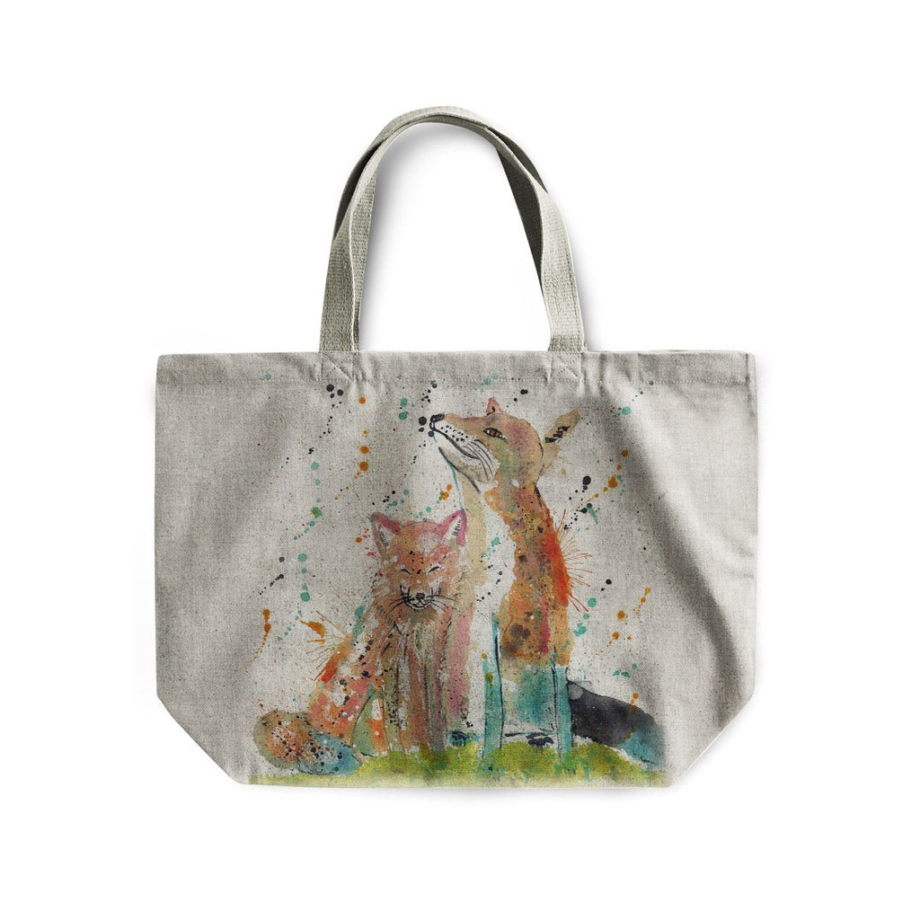 """Always Us"" Foxes Linen Tote Bag"