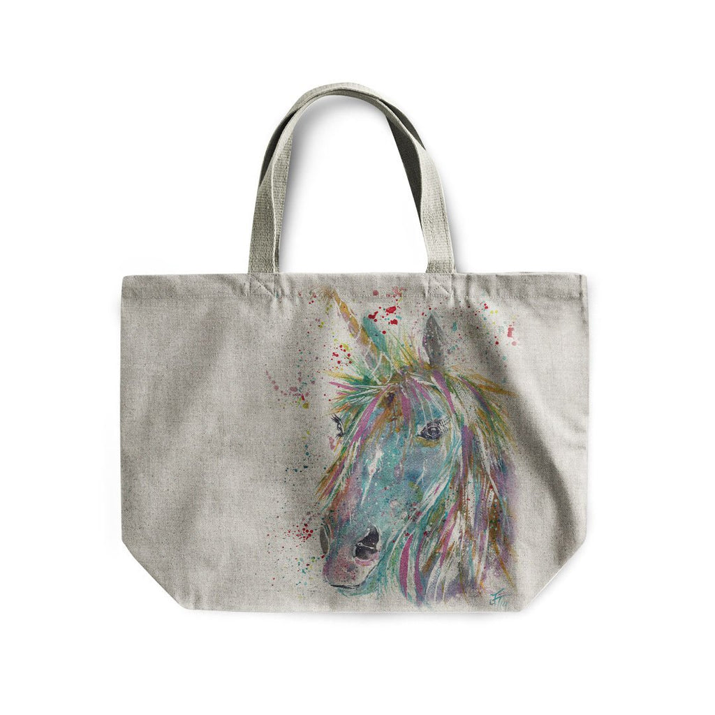 """Millie"" Unicorn Linen Tote Bag"
