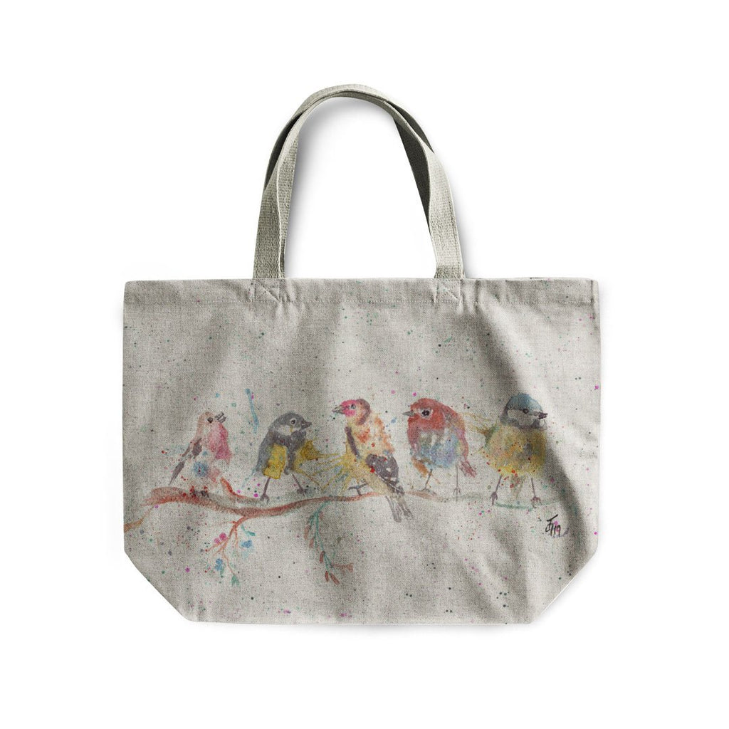 """Tree Friends"" Birds 2 Linen Tote Bag"
