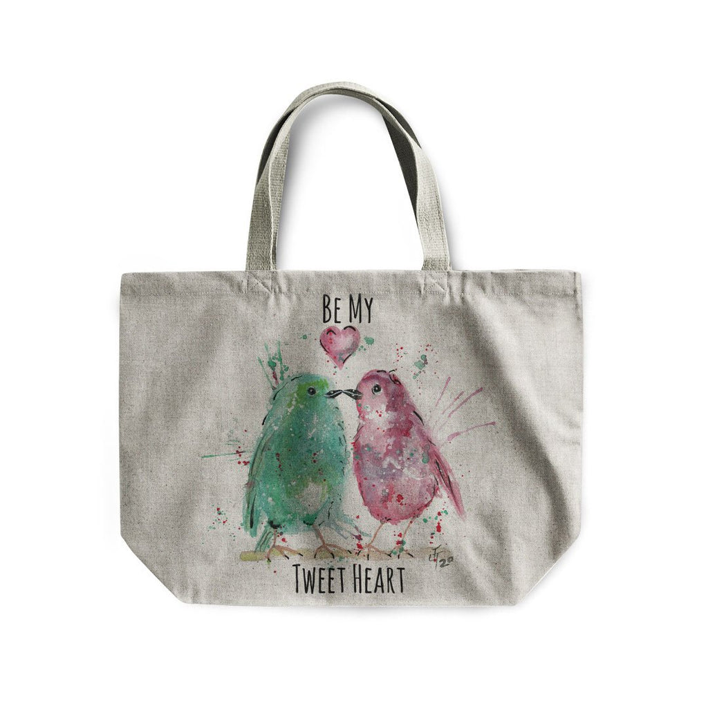 Be My Tweet Heart Linen Tote Bag