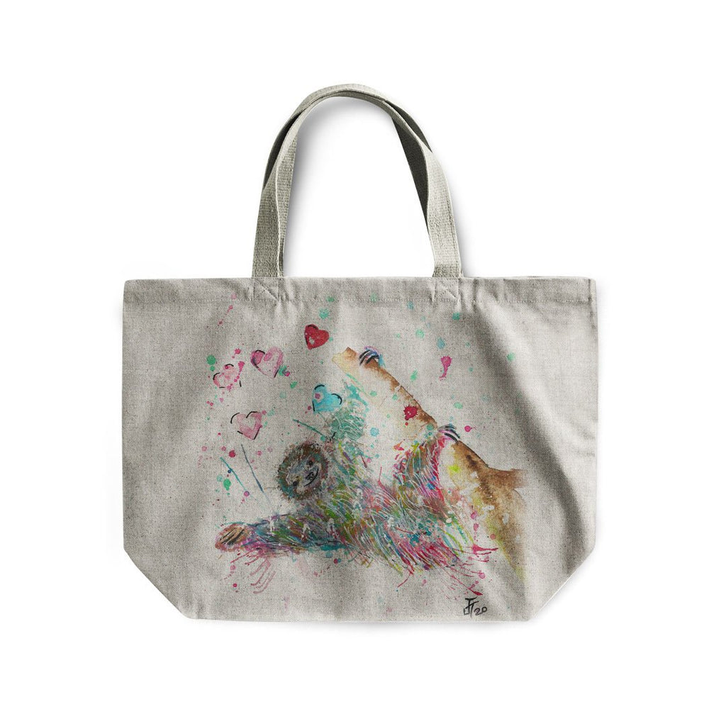 """Hang With Me"" Sloth Linen Tote Bag"