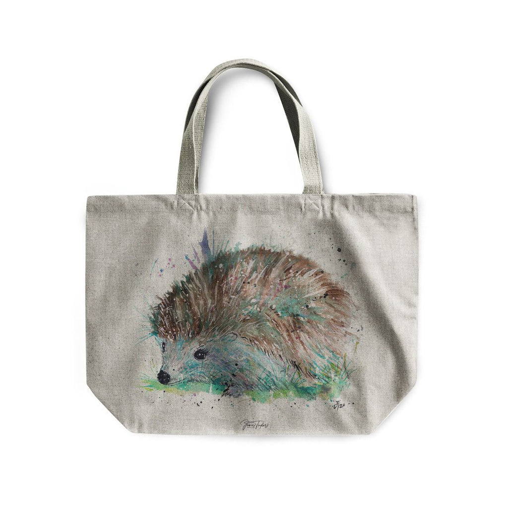 """Sweet"" Hedgehog Linen Tote Bag"