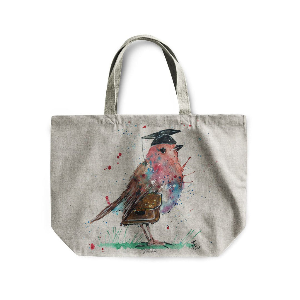 """Teach"" Robin Linen Tote Bag"