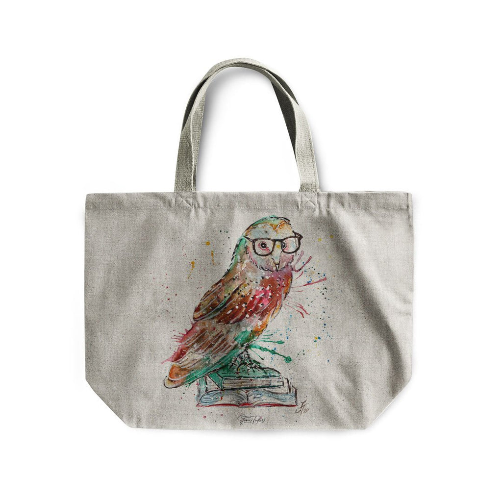 """Knowledge"" Owl Linen Tote Bag"