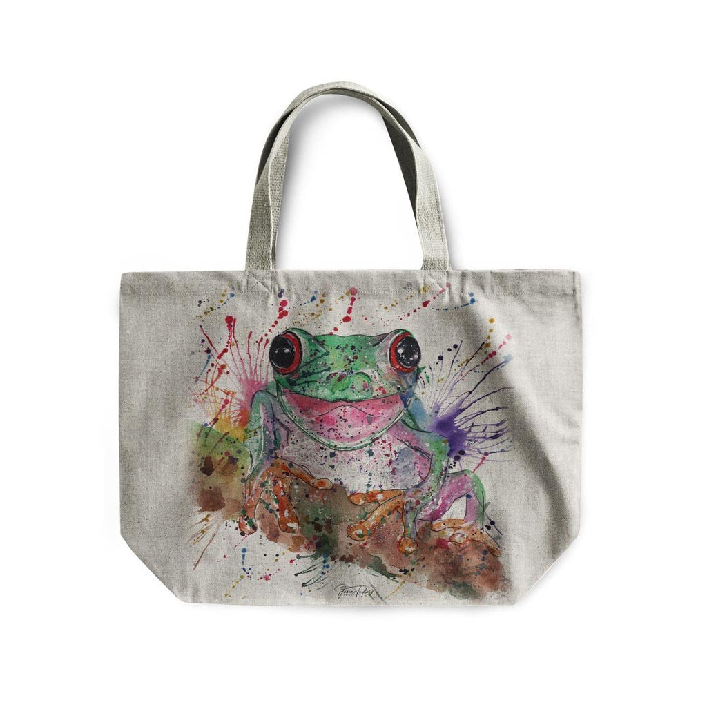 Chris the Frog Linen Tote Bag