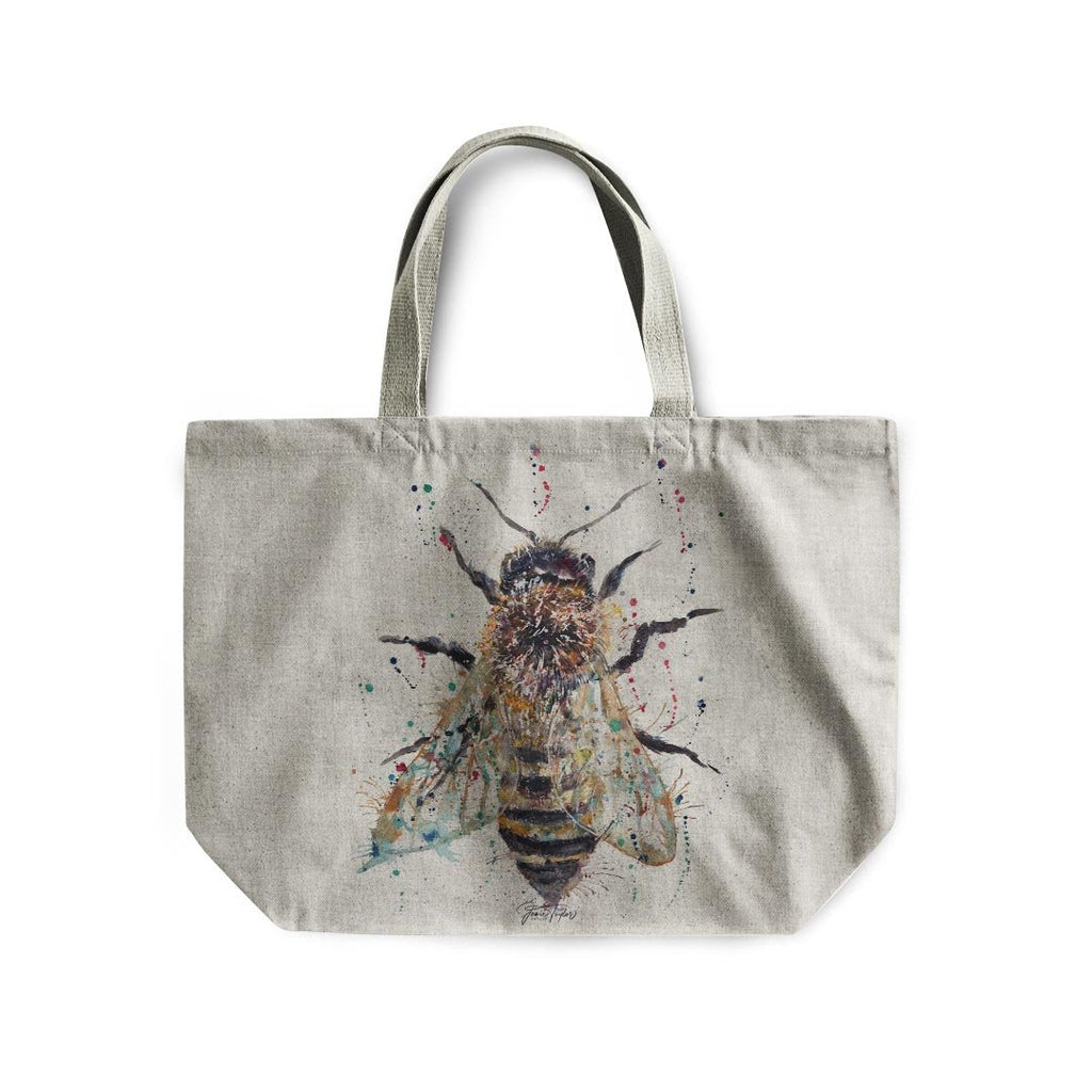 Honey Linen Tote Bag