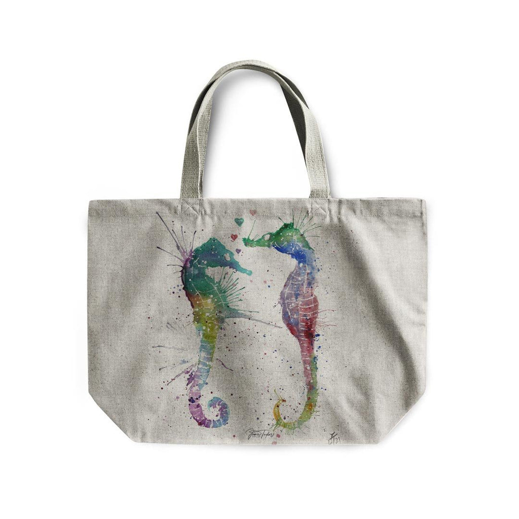 You and Me Linen Tote Bag