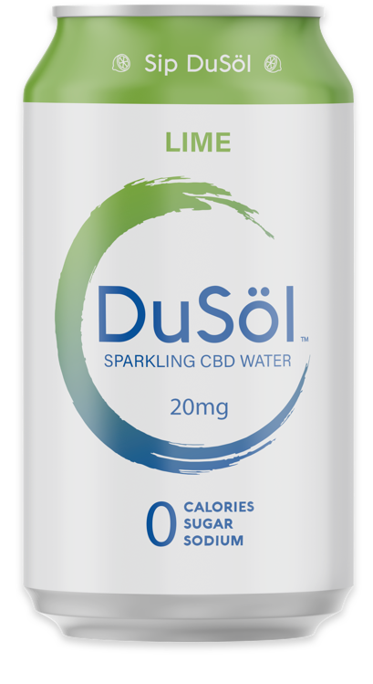 DuSOL CBD Sparkling Lime Water