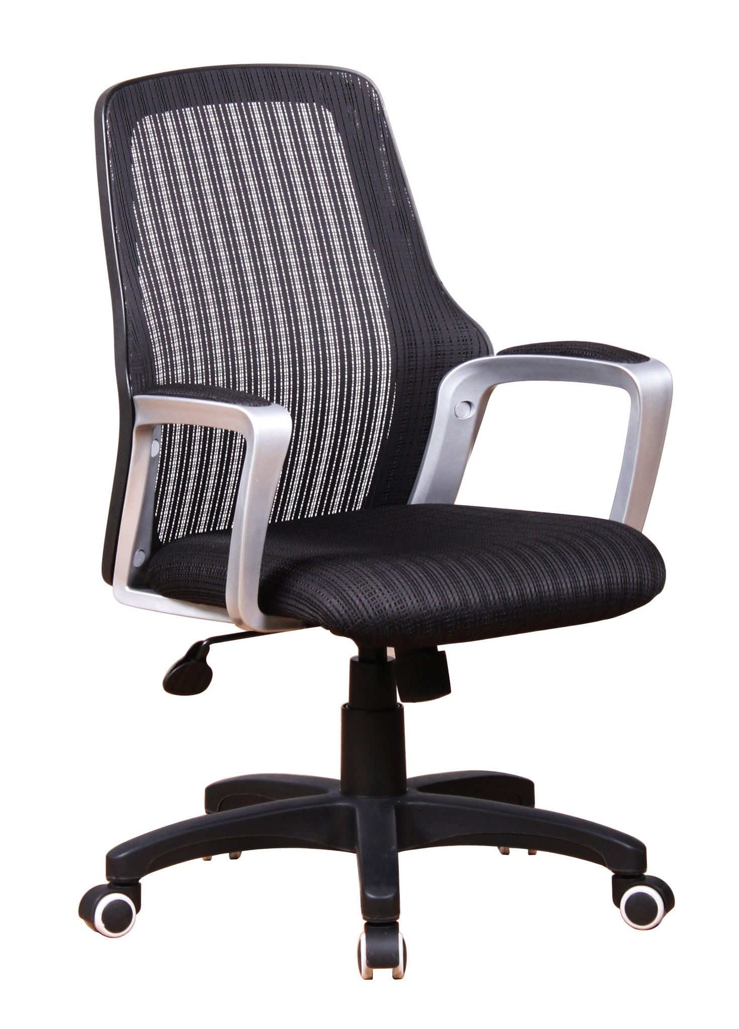 Mid Back Task Chair Black Upgraded Mesh In Back Ad Seat Padded