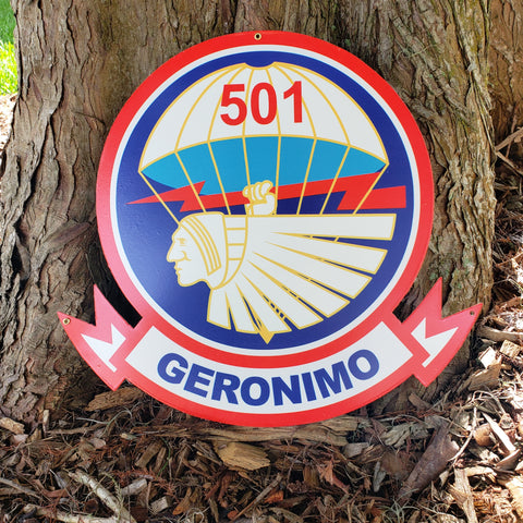 501st Parachute Infantry Regiment Sign