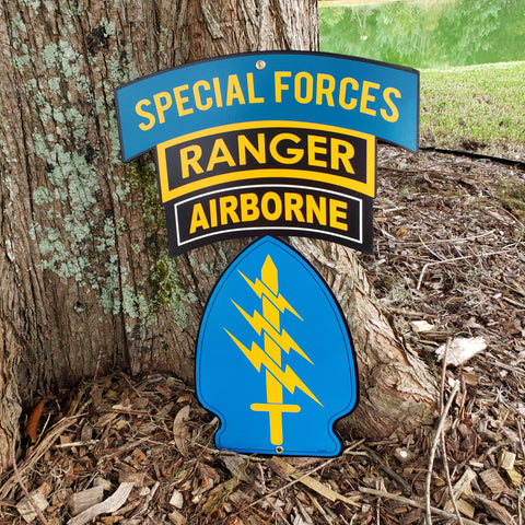 Special Forces Triple Canopy Patch Sign
